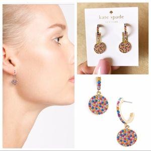 NWT Kate Spade 🌈✨ Shine On Pave Drop Earrings 🌈
